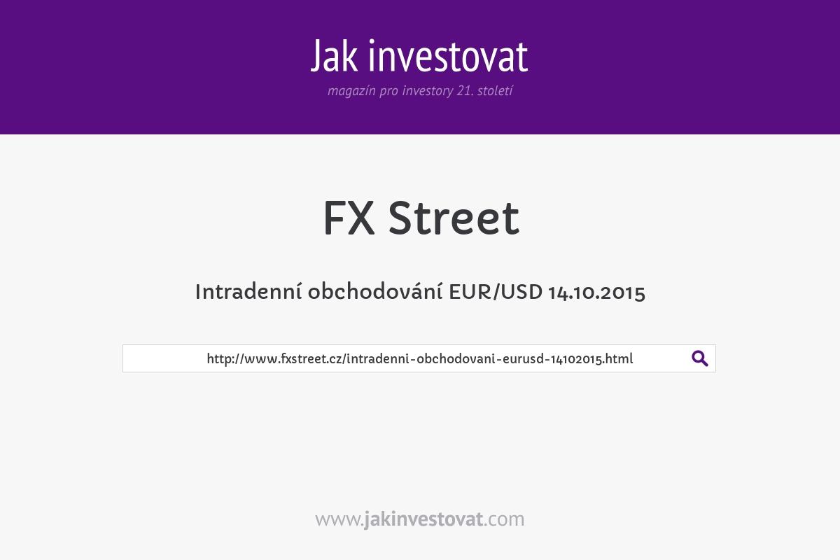 Intradenní obchodování EUR/USD 14.10.2015
