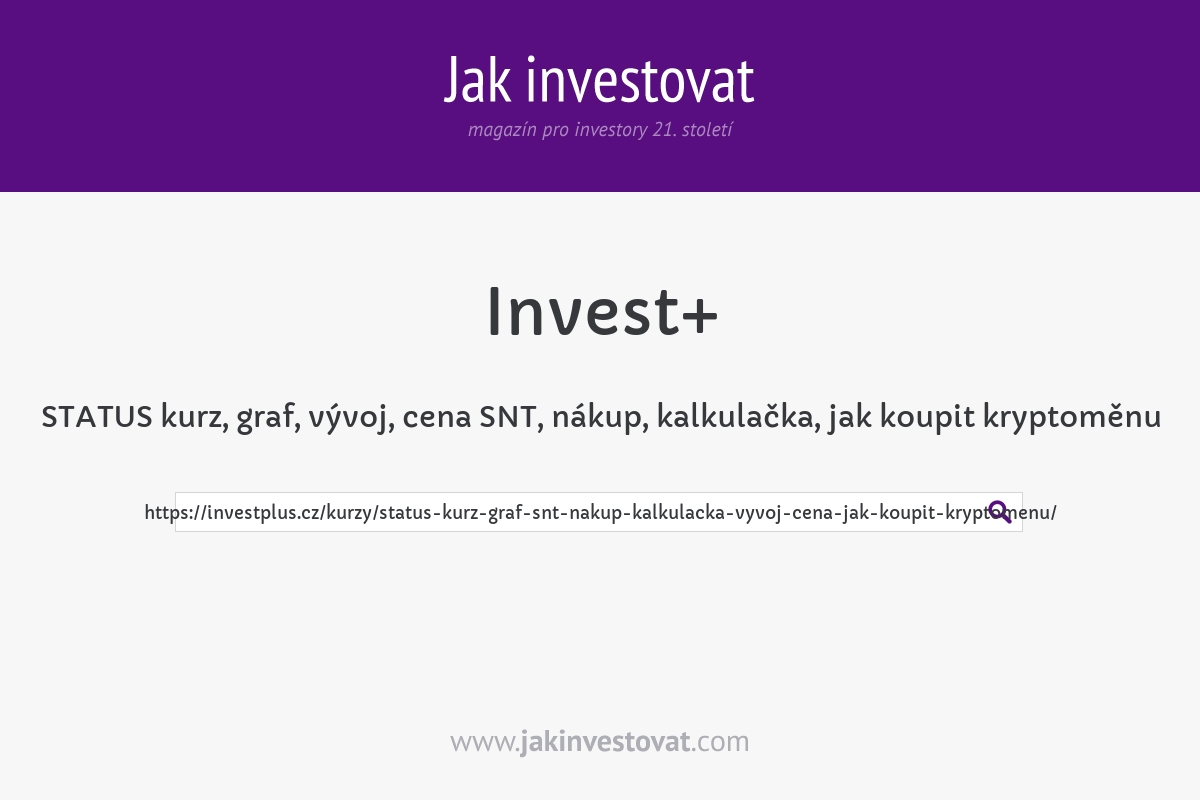STATUS kurz, graf, vývoj, cena SNT, nákup, kalkulačka, jak koupit kryptoměnu