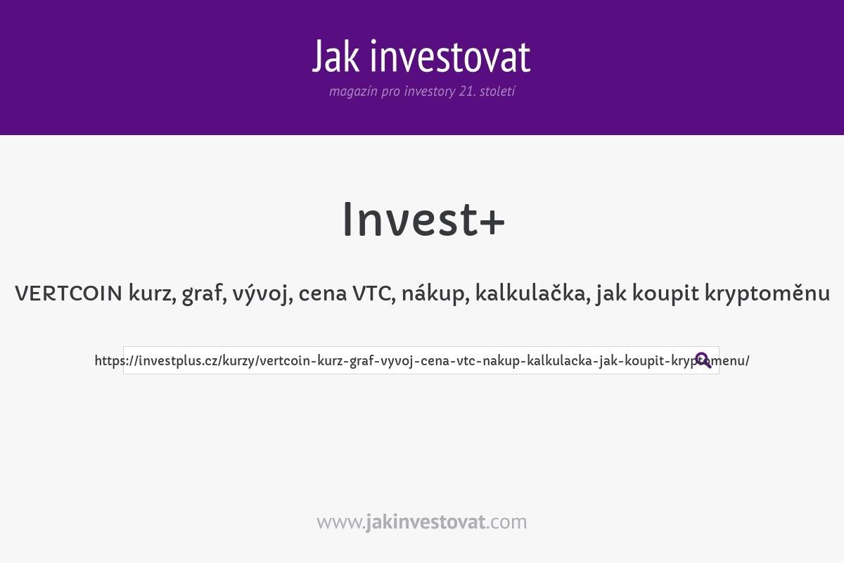 VERTCOIN kurz, graf, vývoj, cena VTC, nákup, kalkulačka, jak koupit kryptoměnu