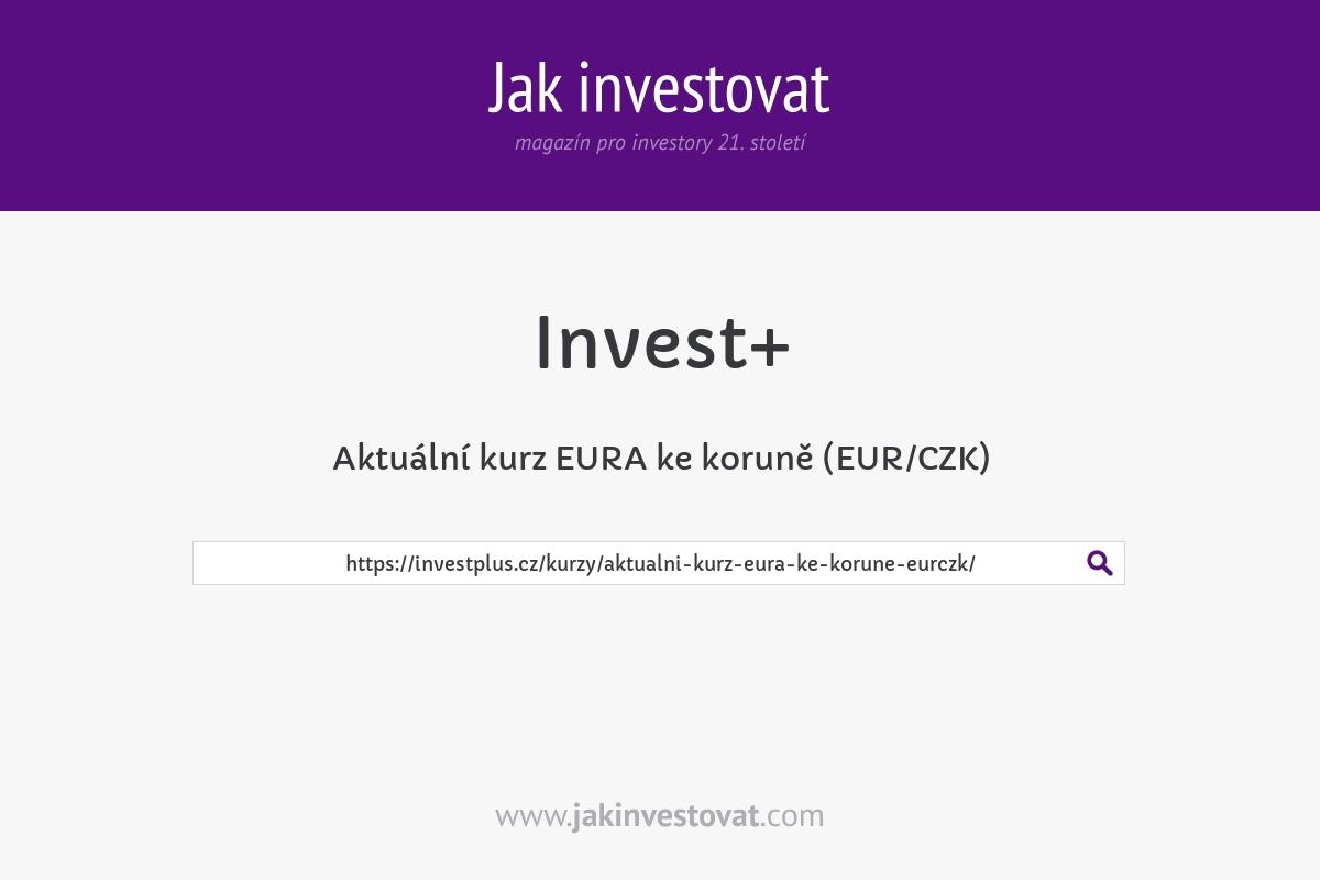 Aktuální kurz EURA ke koruně (EUR/CZK)