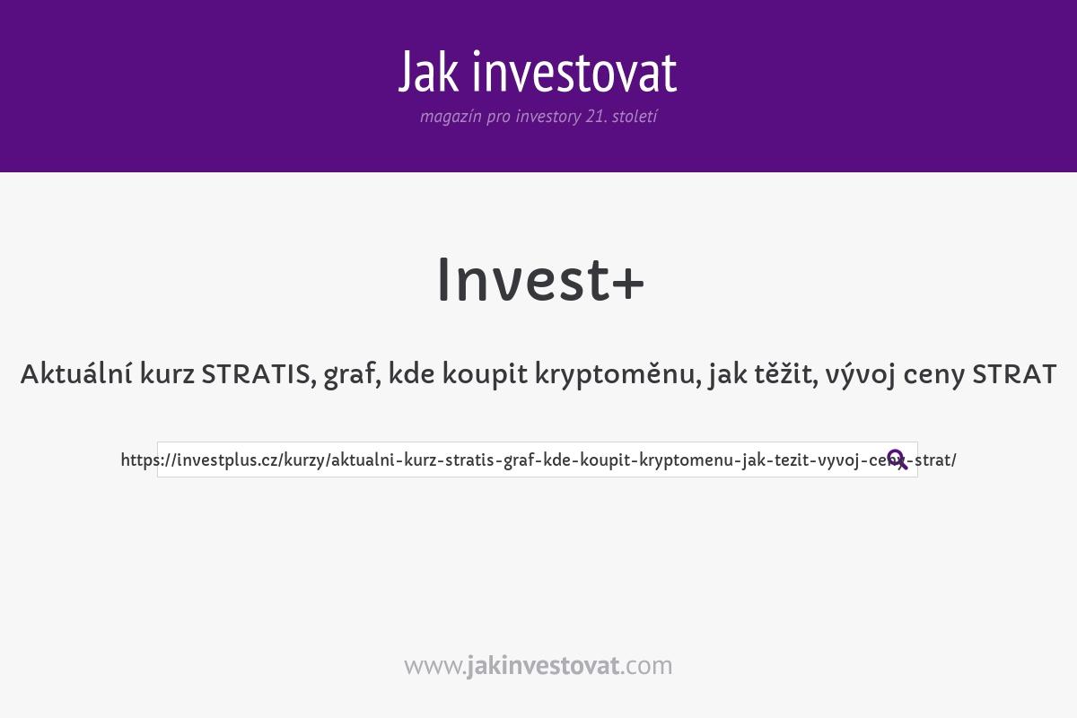 Aktuální kurz STRATIS, graf, kde koupit kryptoměnu, jak těžit, vývoj ceny STRAT