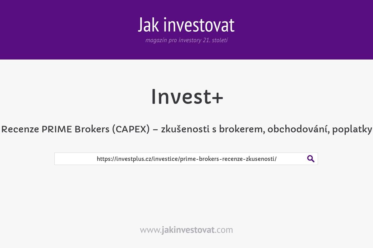 Recenze PRIME Brokers (CAPEX) – zkušenosti s brokerem, obchodování, poplatky