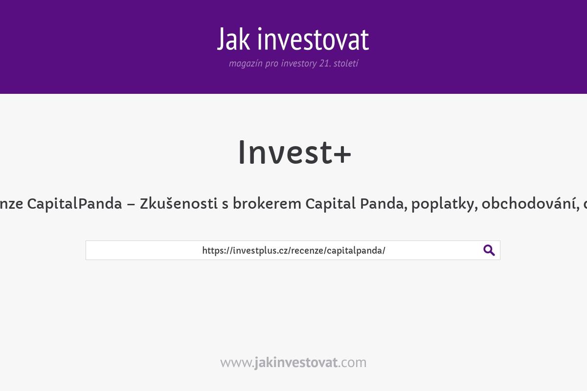Recenze CapitalPanda – Zkušenosti s brokerem Capital Panda, poplatky, obchodování, demo