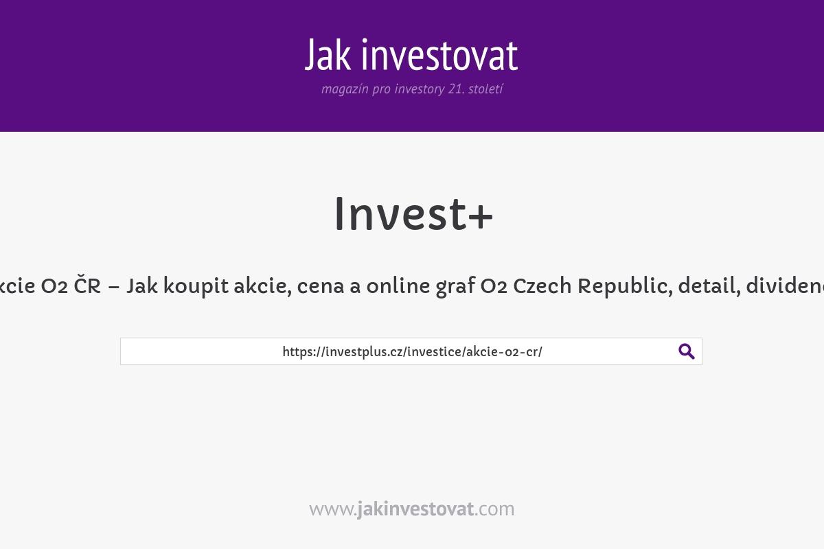Akcie O2 ČR – Jak koupit akcie, cena a online graf O2 Czech Republic, detail, dividenda