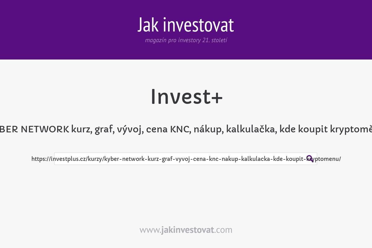KYBER NETWORK kurz, graf, vývoj, cena KNC, nákup, kalkulačka, kde koupit kryptoměnu