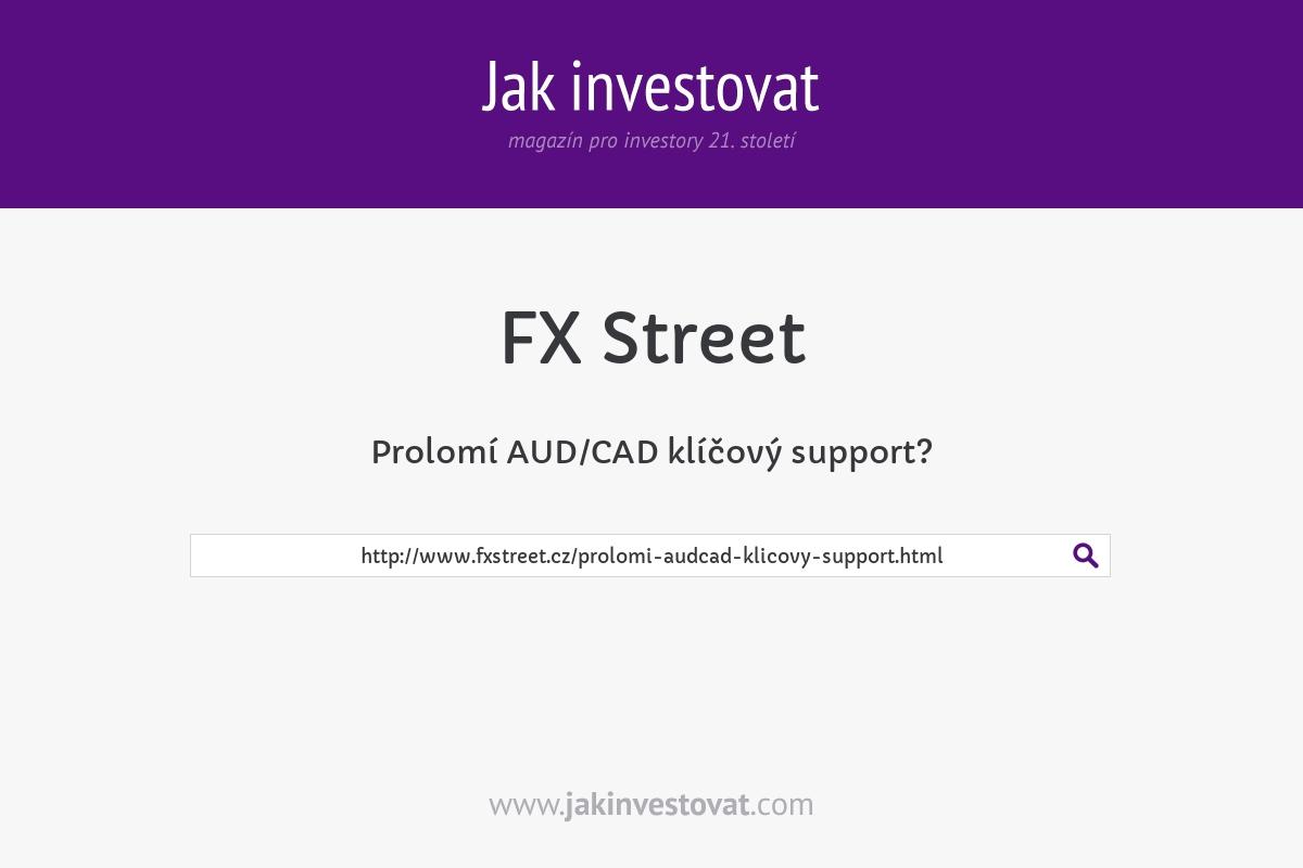 Prolomí AUD/CAD klíčový support?