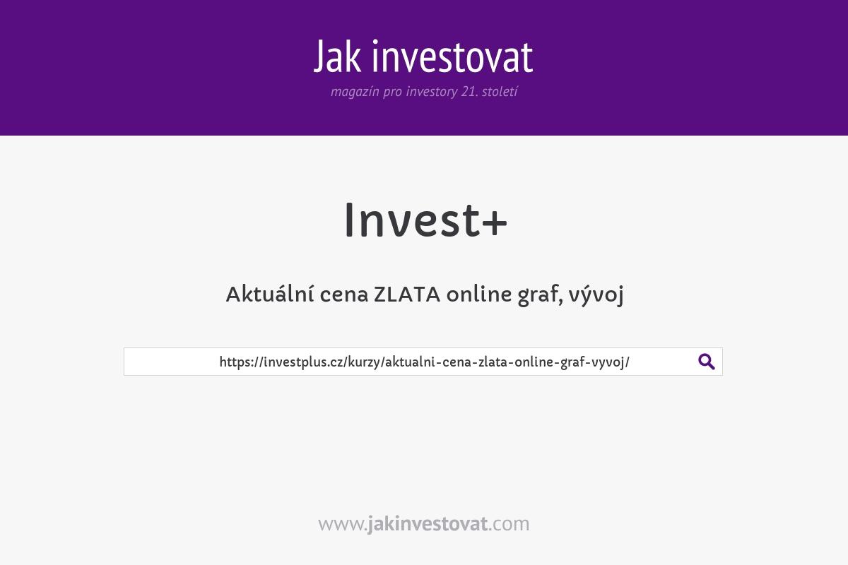Aktuální cena ZLATA online graf, vývoj
