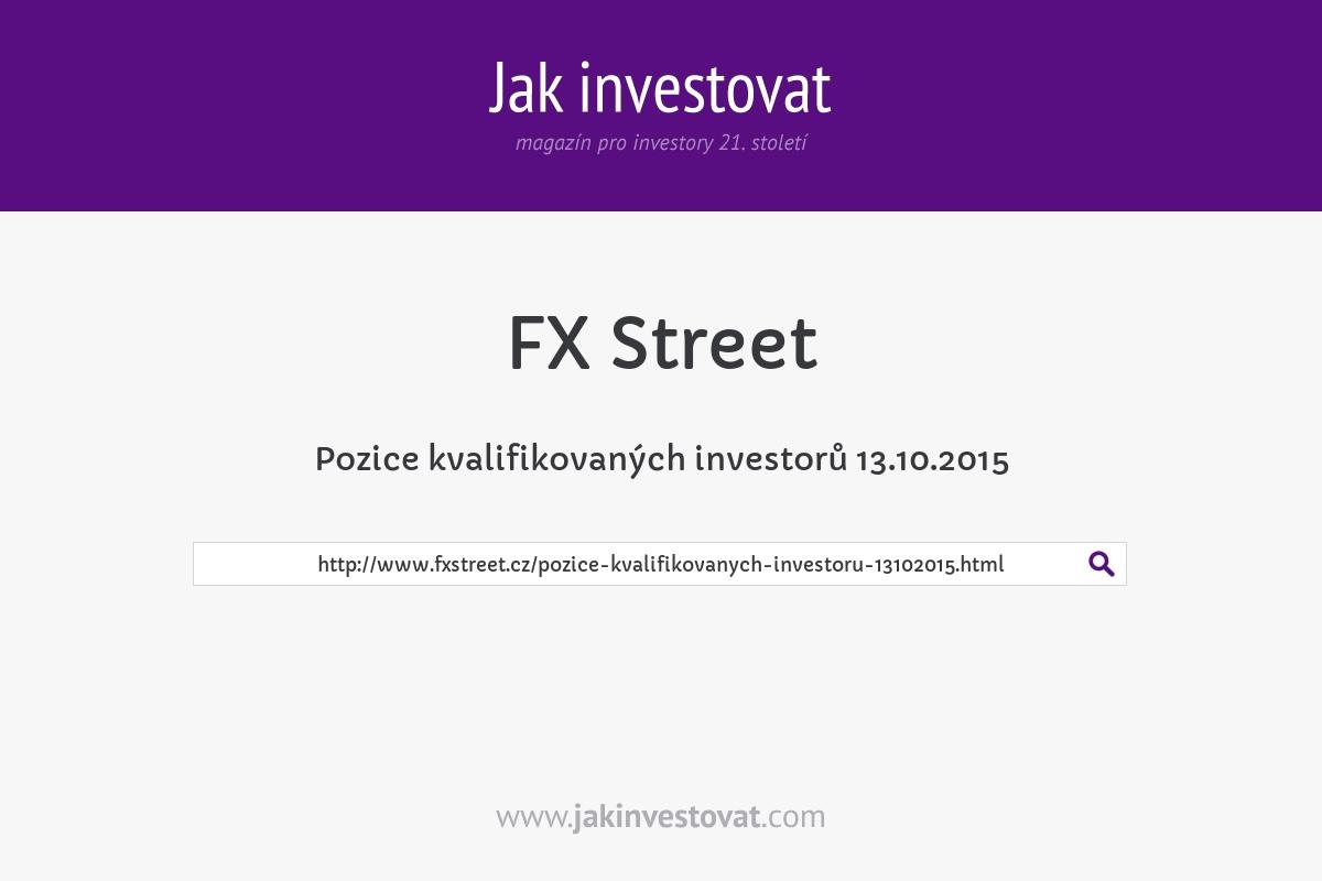 Pozice kvalifikovaných investorů 13.10.2015
