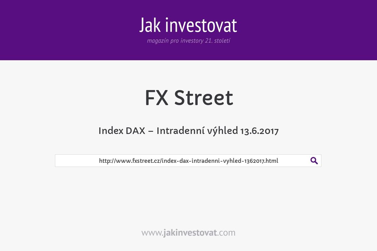 Index DAX – Intradenní výhled 13.6.2017