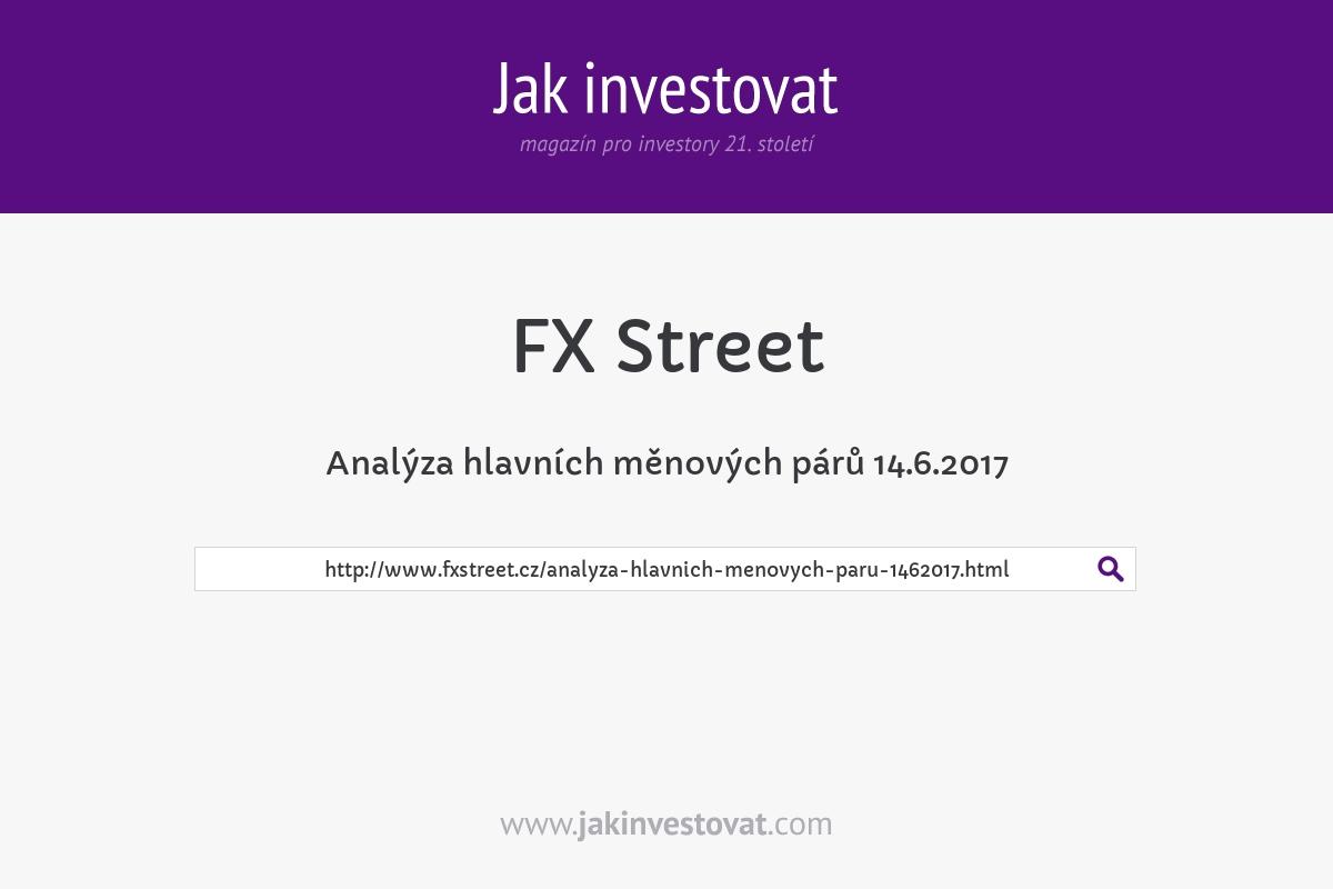 Analýza hlavních měnových párů 14.6.2017