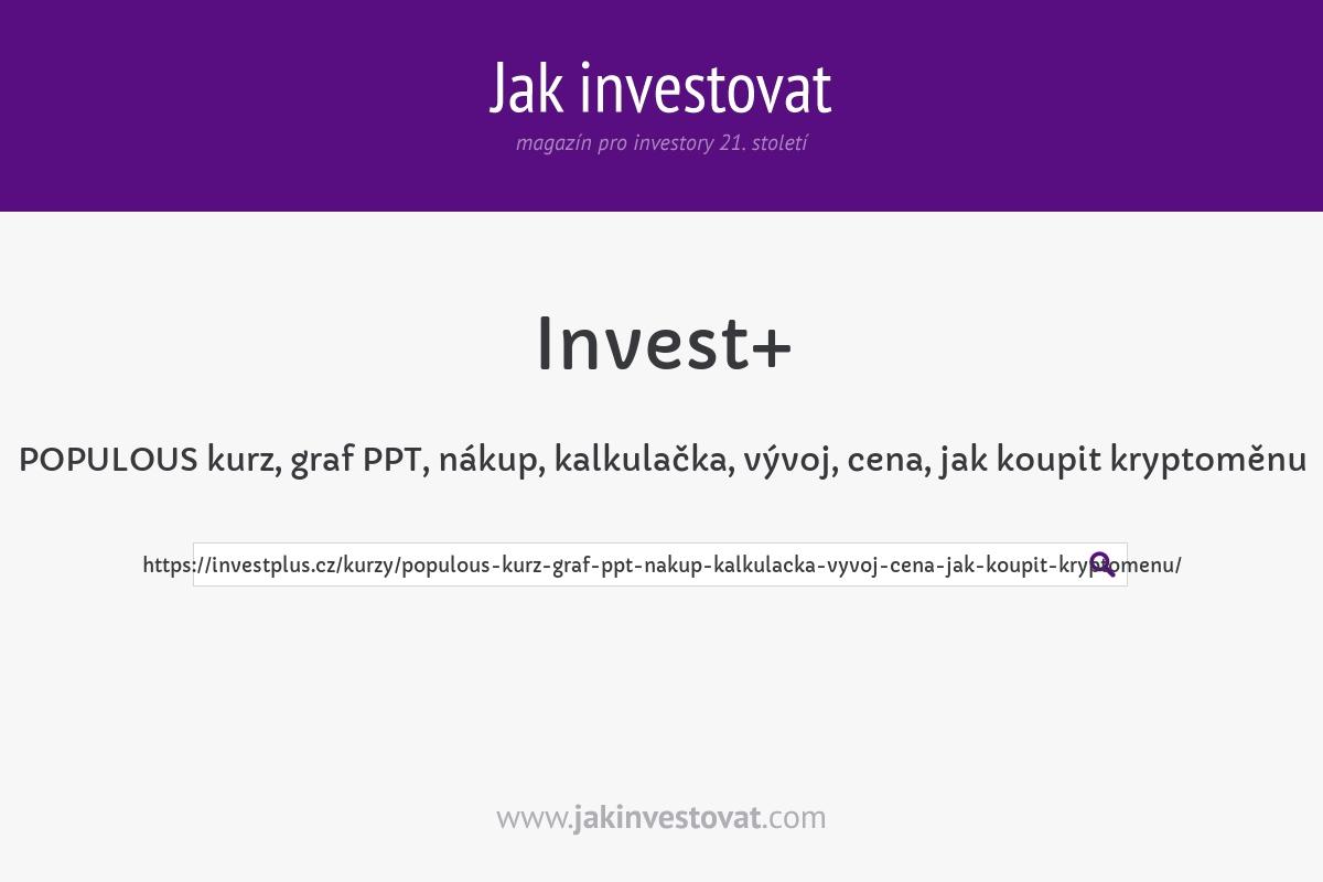 POPULOUS kurz, graf PPT, nákup, kalkulačka, vývoj, cena, jak koupit kryptoměnu
