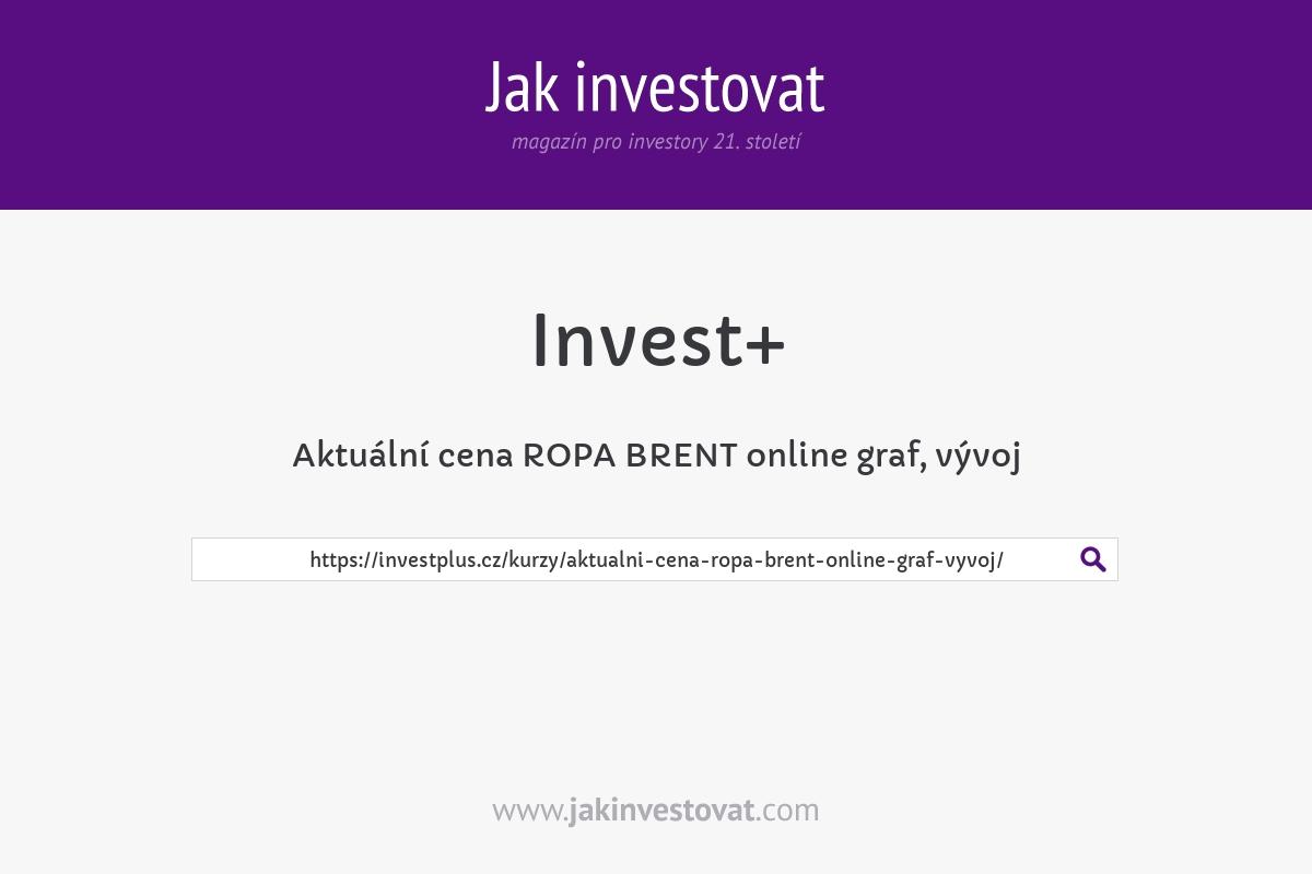 Aktuální cena ROPA BRENT online graf, vývoj