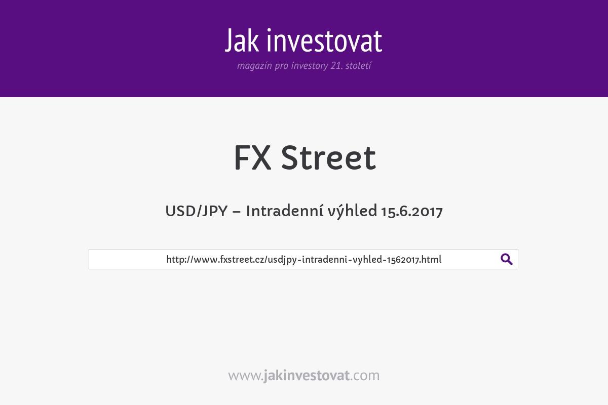 USD/JPY – Intradenní výhled 15.6.2017