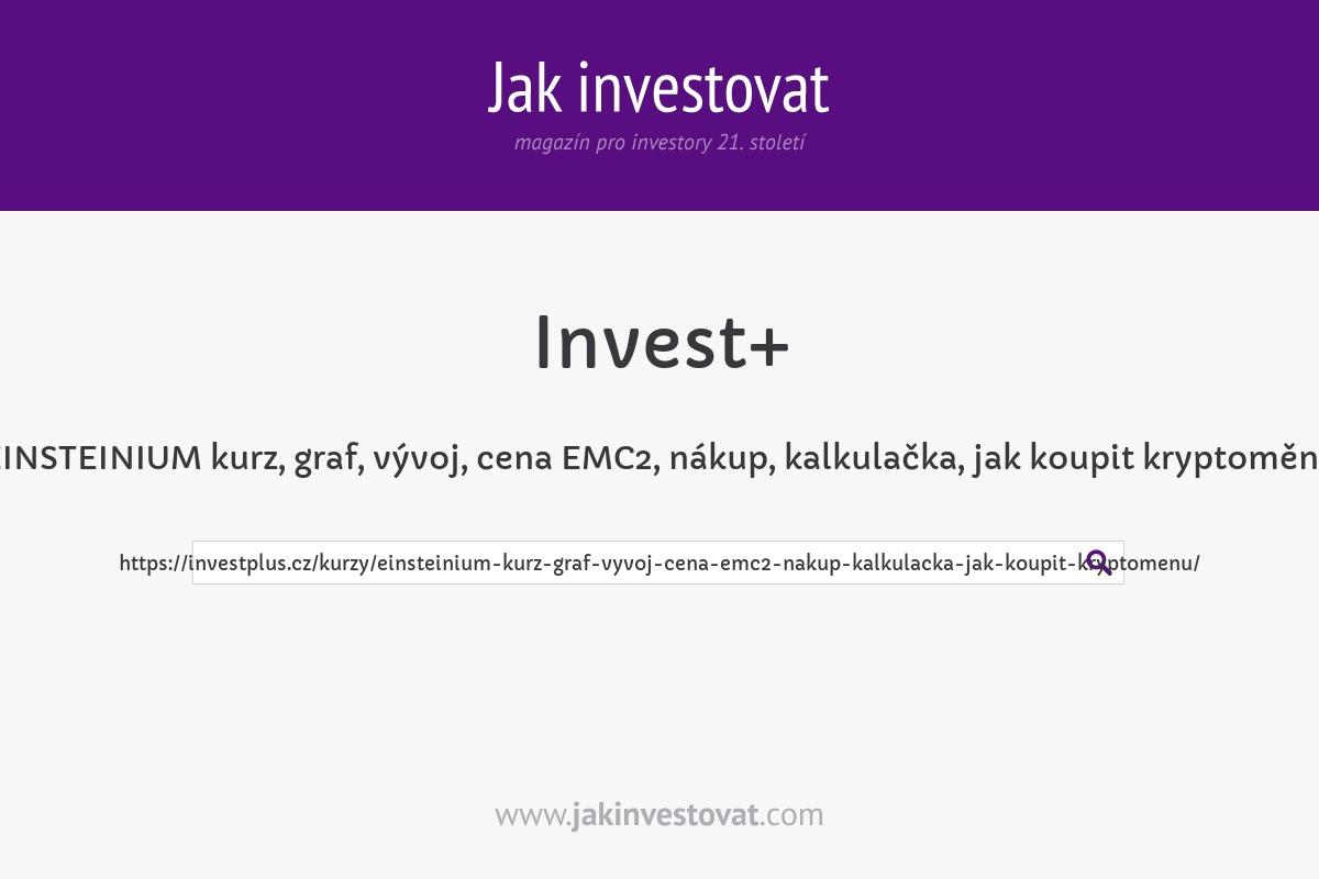 EINSTEINIUM kurz, graf, vývoj, cena EMC2, nákup, kalkulačka, jak koupit kryptoměnu