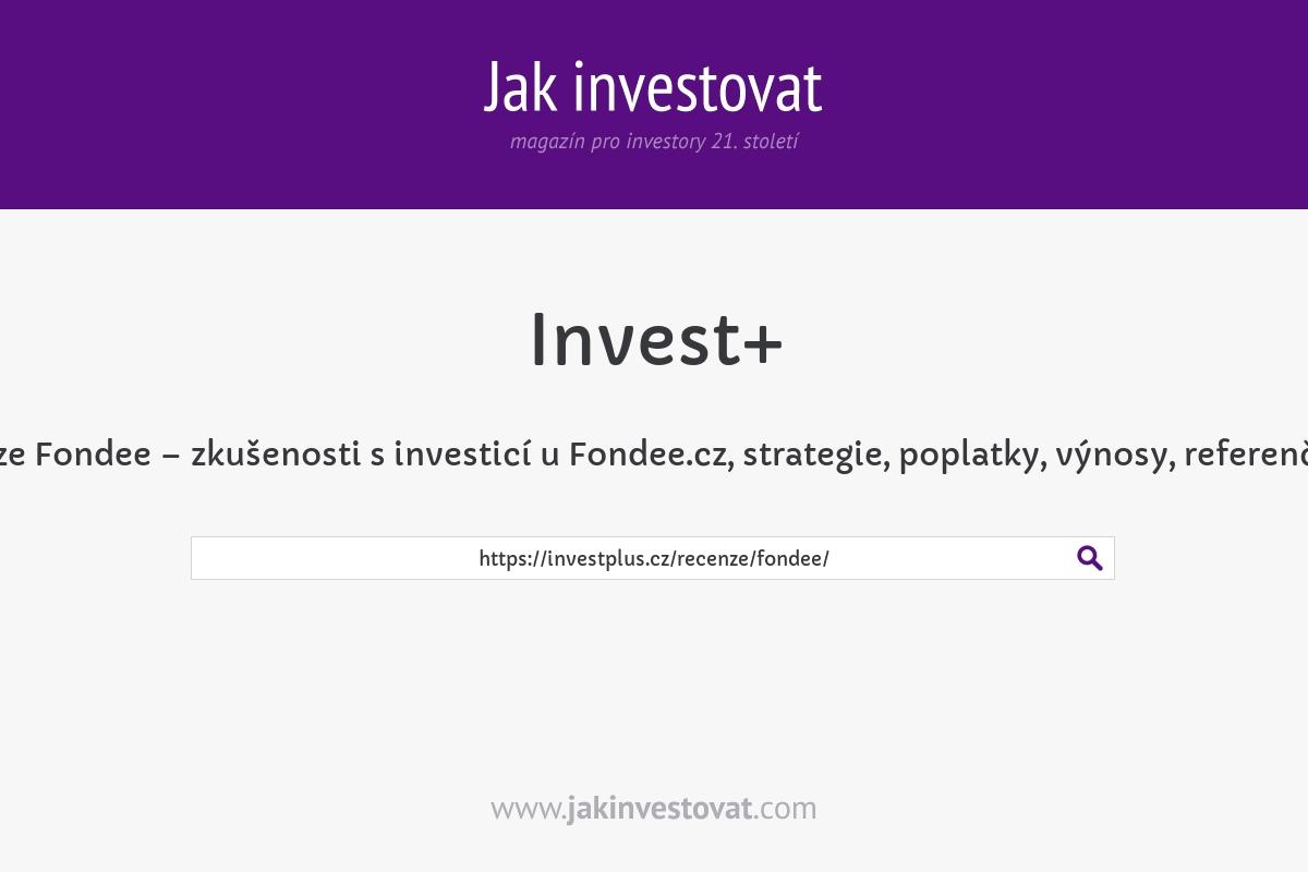Recenze Fondee – zkušenosti s investicí u Fondee.cz, strategie, poplatky, výnosy, referenční kód