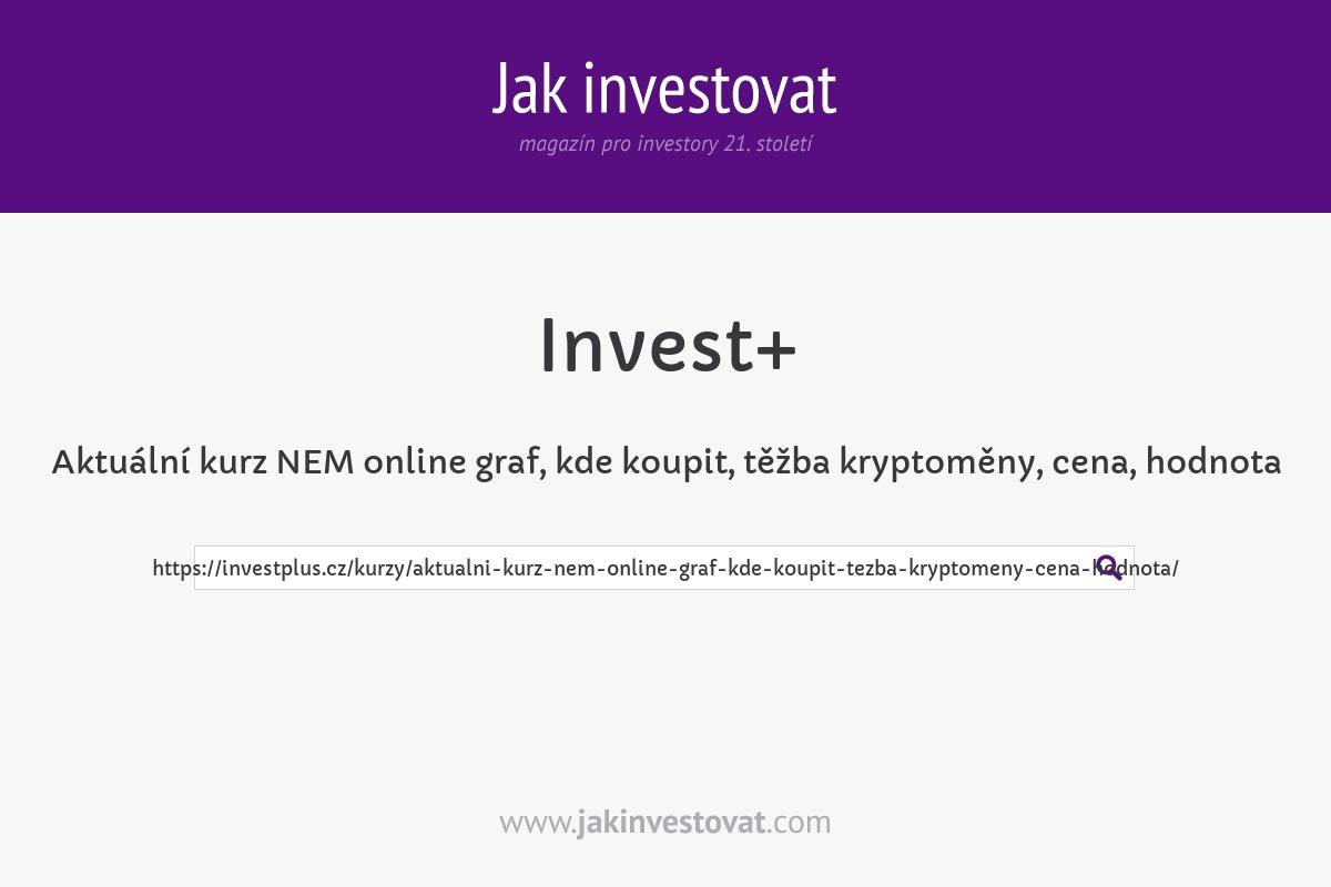 Aktuální kurz NEM online graf, kde koupit, těžba kryptoměny, cena, hodnota