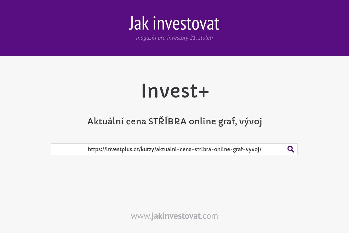 Aktuální cena STŘÍBRA online graf, vývoj