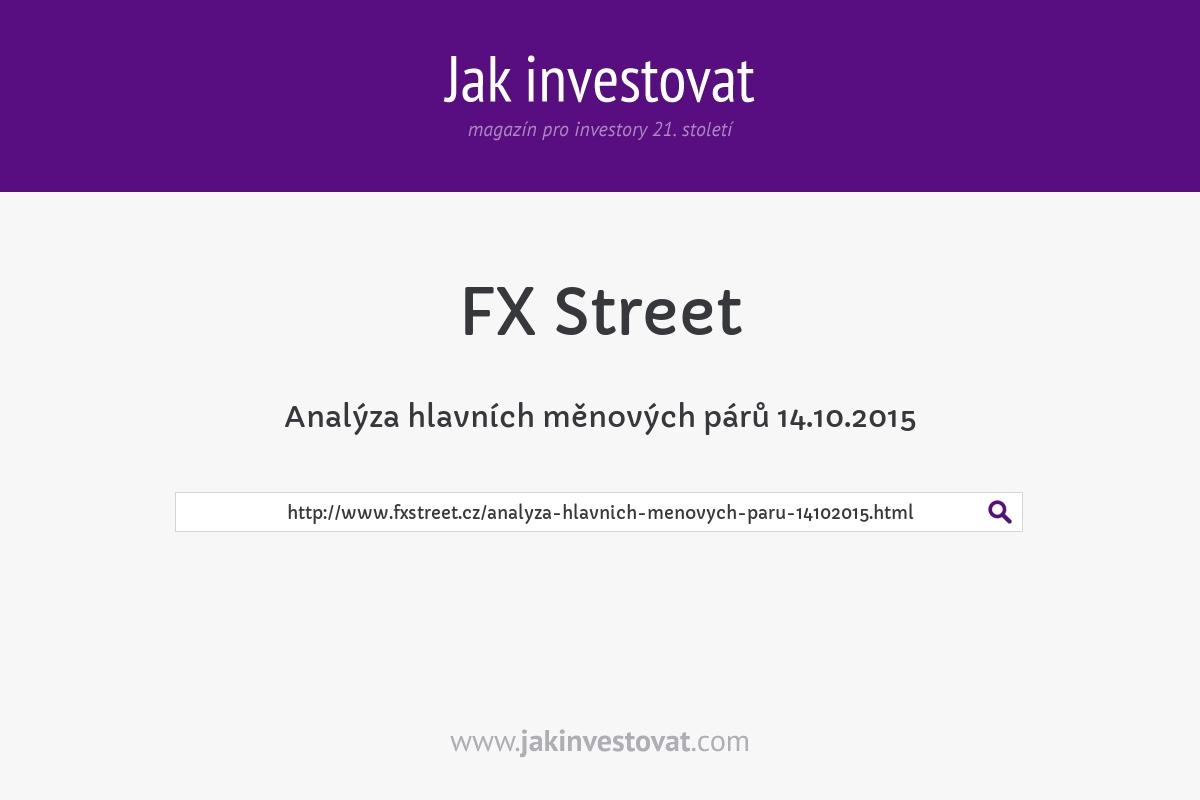 Analýza hlavních měnových párů 14.10.2015