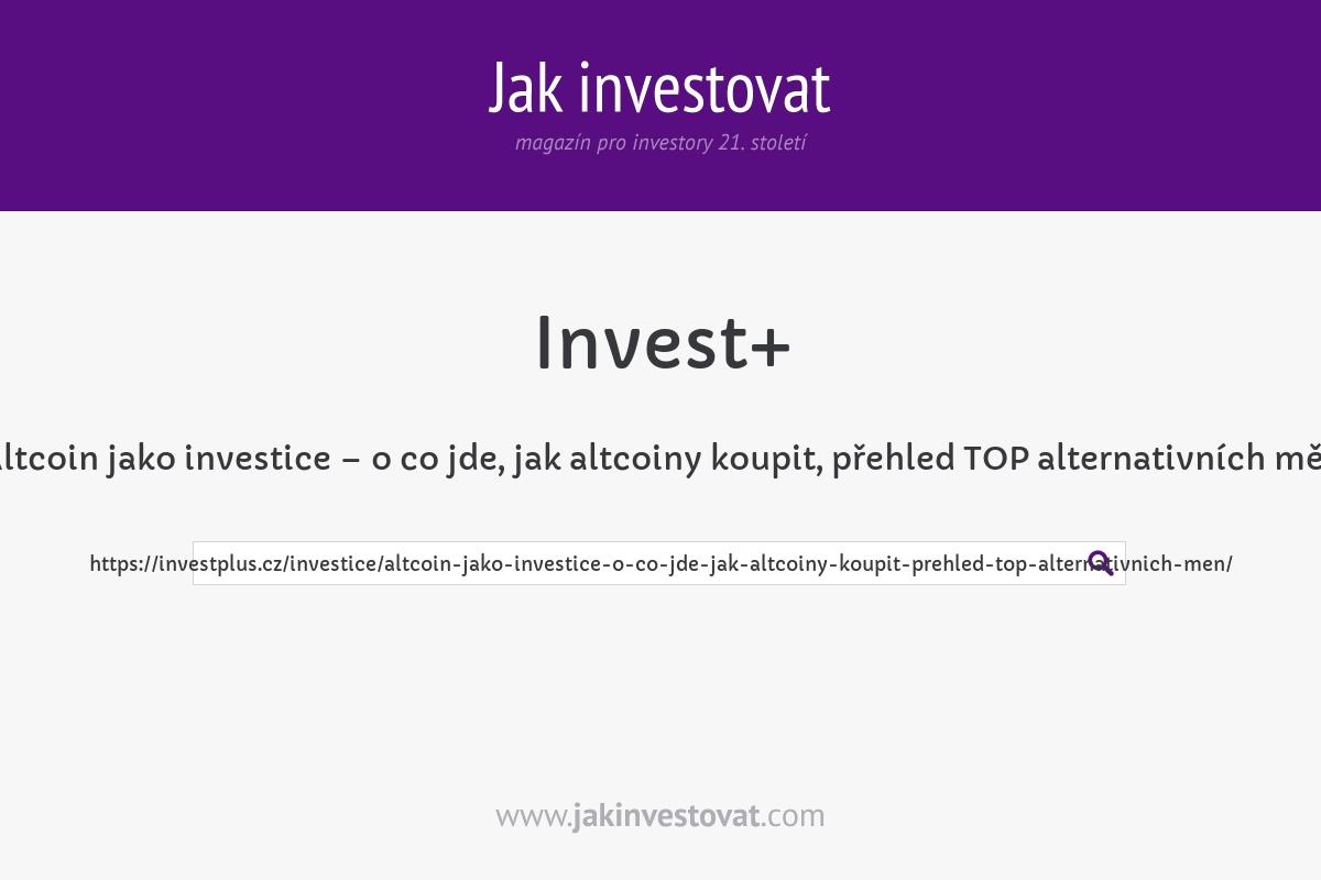 Altcoin jako investice – o co jde, jak altcoiny koupit, přehled TOP alternativních měn