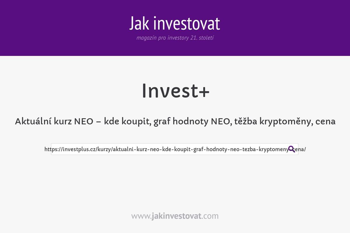 Aktuální kurz NEO – kde koupit, graf hodnoty NEO, těžba kryptoměny, cena