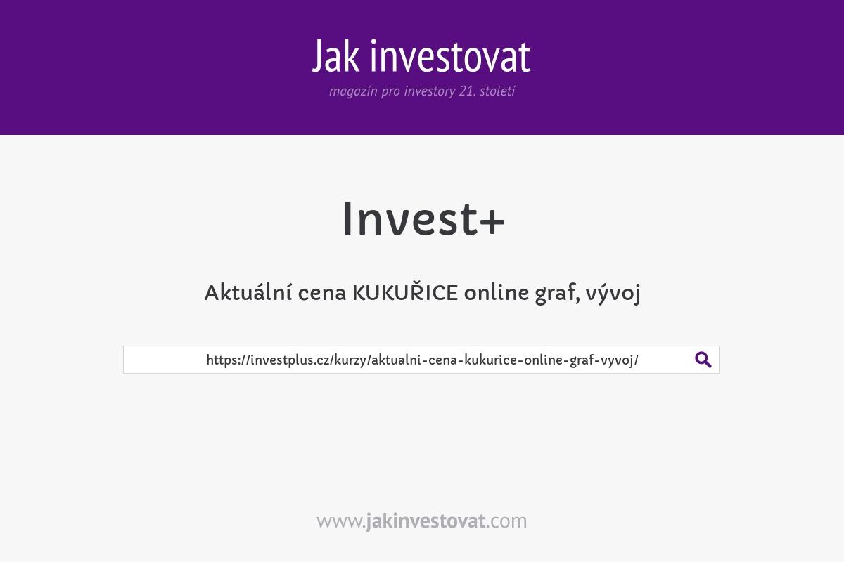 Aktuální cena KUKUŘICE online graf, vývoj