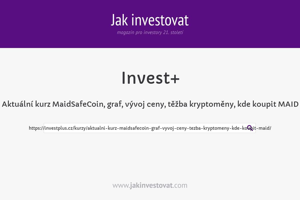 Aktuální kurz MaidSafeCoin, graf, vývoj ceny, těžba kryptoměny, kde koupit MAID
