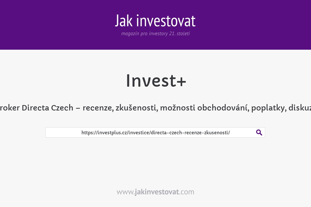 Broker Directa Czech – recenze, zkušenosti, možnosti obchodování, poplatky, diskuze