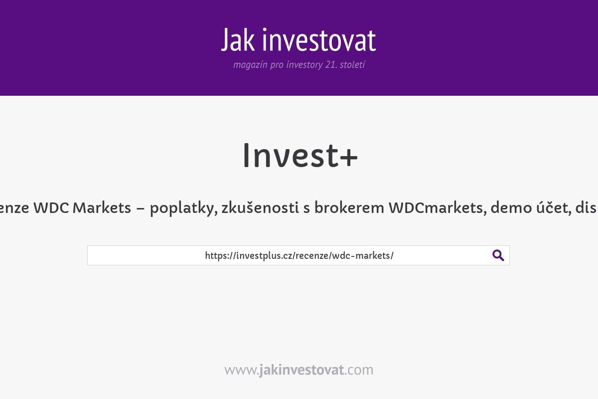 Recenze WDC Markets – poplatky, zkušenosti s brokerem WDCmarkets, demo účet, diskuze